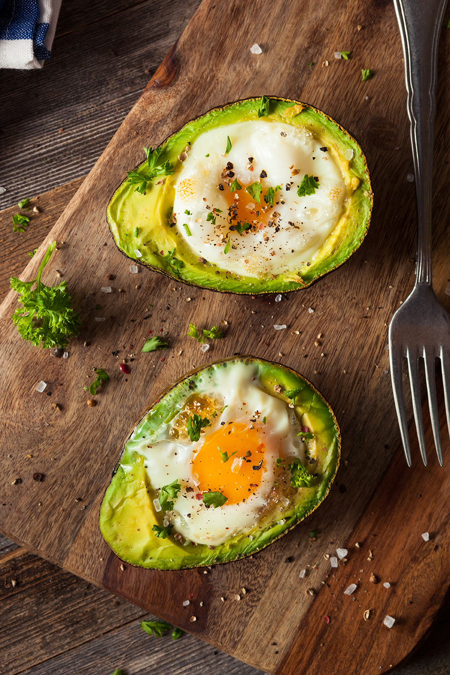 Ei Avocado Frühstück für Keto Diät