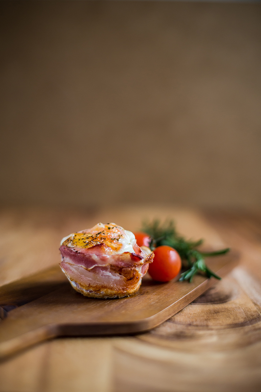 Ketogene Muffins mit Bacon - Rezept für ketogenes Frühstück