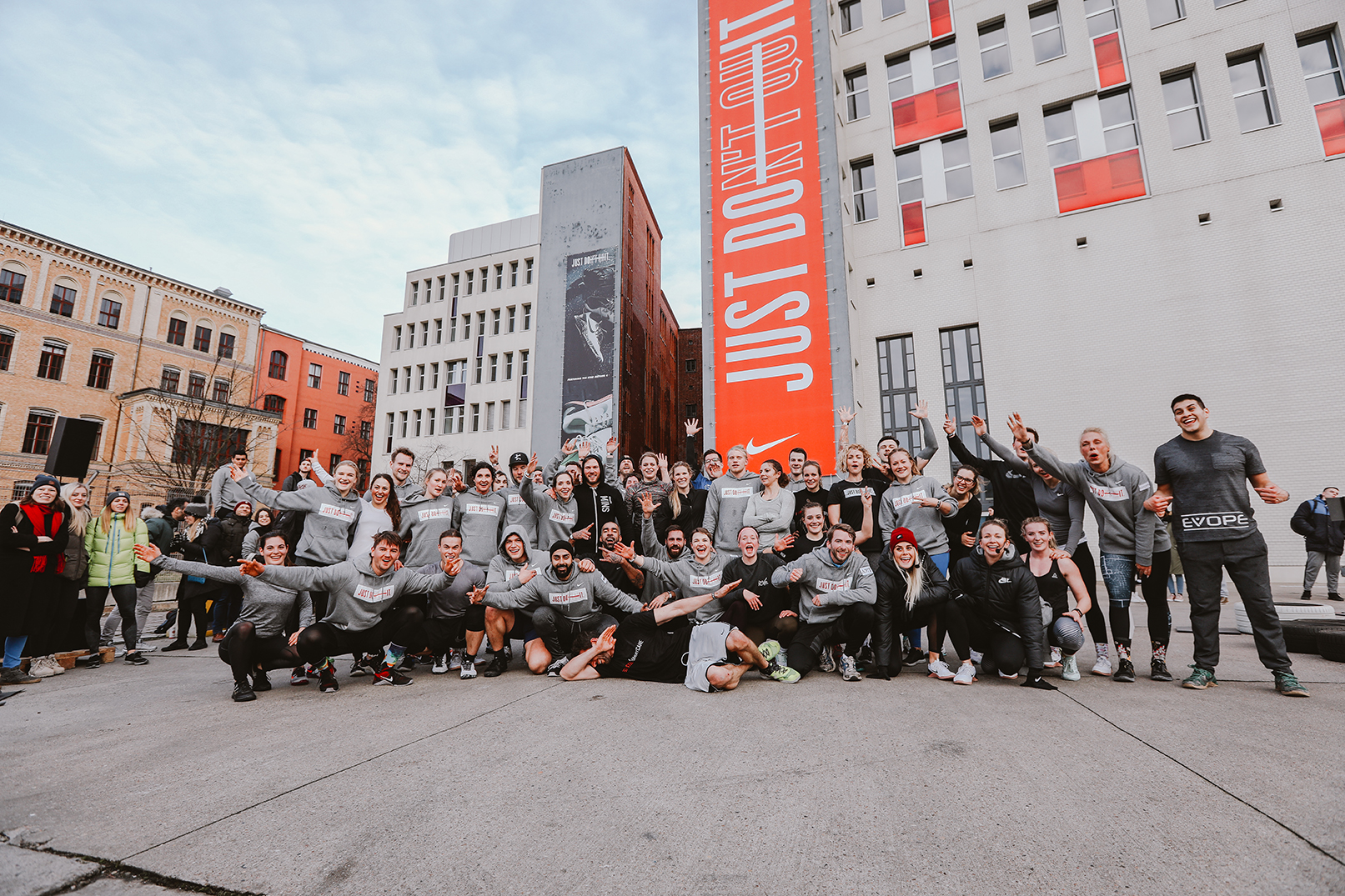 Nike Just Don't Quit Event in Berlin zur Präsentation des Trainingschuhs Metcon 4