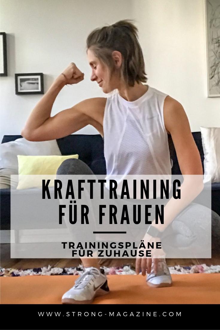 Krafttraining für Frauen - TRAININGSPLÄNE für das Fitnessstudio und Zuhause