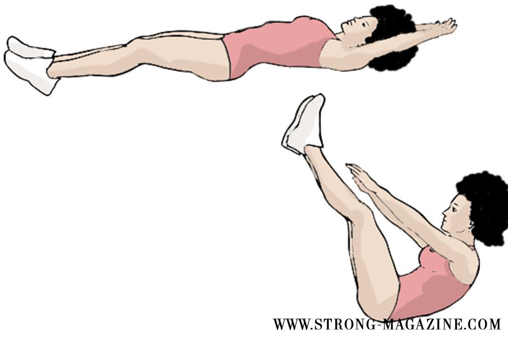 Zirkeltraining Übungen für den Bauch: Klappmesser - Bootcamp Fitness Übungen