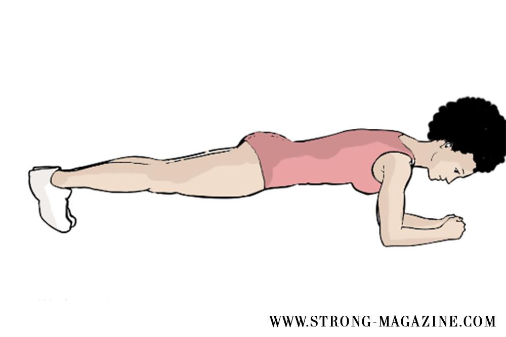 Zirkeltraining Übungen für den Bauch: Plank - Bootcamp Fitness Übungen