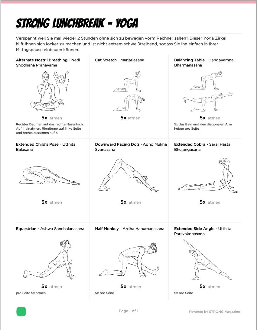 STRONG Lunchbreak - Yoga Übungen für die Mittagspause