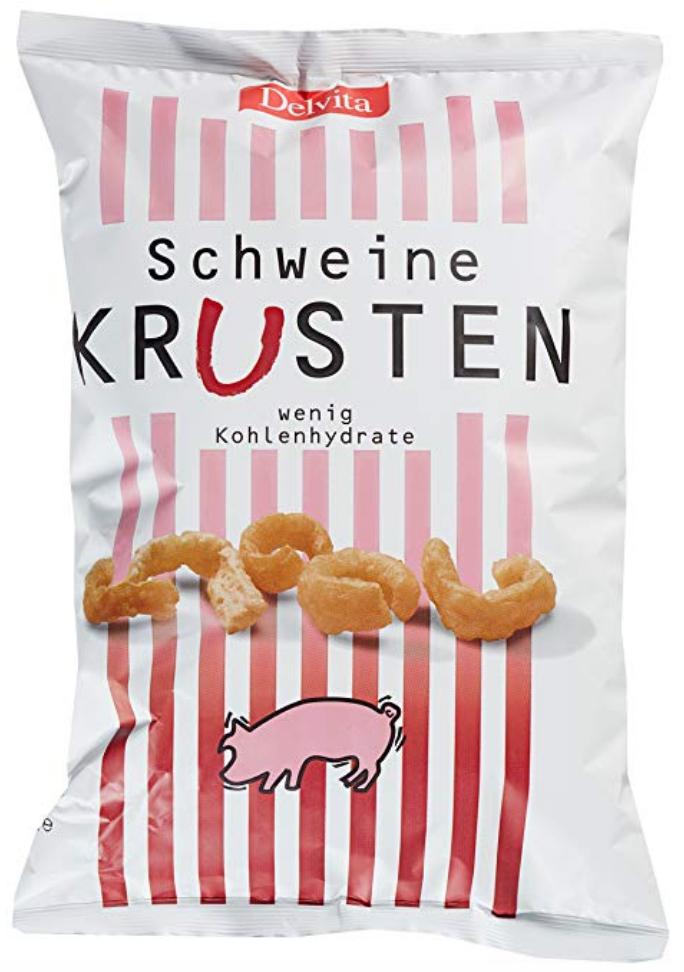 Schweine Krusten Chips sind eine perfekte ketogene Snackalternative zu Crackern und normalen Chips