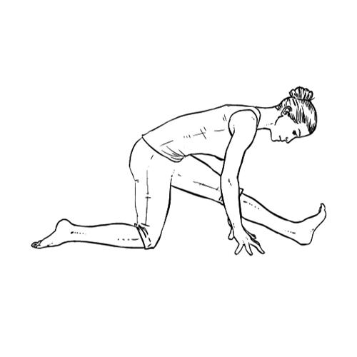 Yoga Übung: Halber Affe / halbes Split - Yoga Übungen fürs Büro
