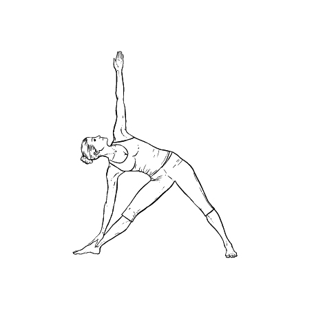 Yoga Übung: Dreieck - Yoga Übungen fürs Büro