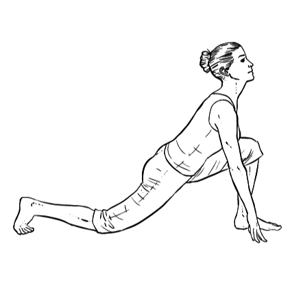 Yoga Übung: tiefer Ausfallschritt - Yoga Übungen fürs Büro