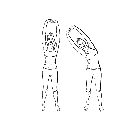 Yoga Übung: Schwankende Palme - Yoga Übungen fürs Büro