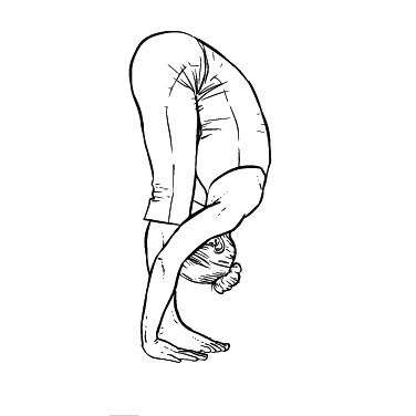 Yoga Übung: Stehende Vorwärtsbeugung - Yoga Übung fürs Büro