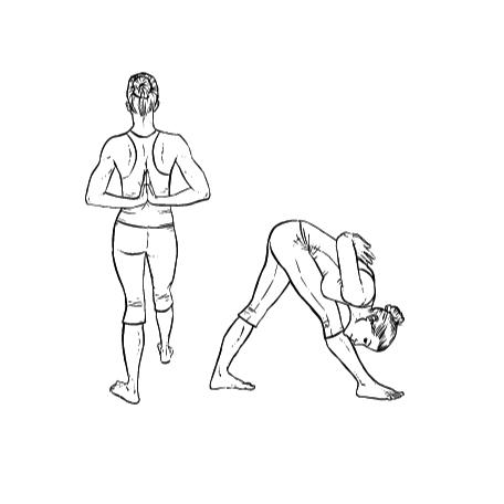 Yoga Übung: Pyramide - Yoga Übungen fürs Büro
