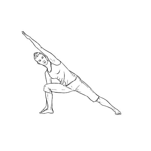 Yoga Übung: seitlicher Winkel - Yoga Übungen fürs Büro