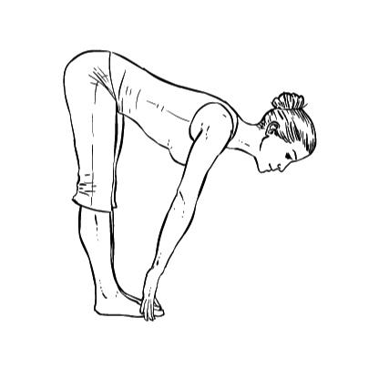 Yoga Übung: Halbe Vorwärtsbeugung - Yoga Übungen fürs Büro