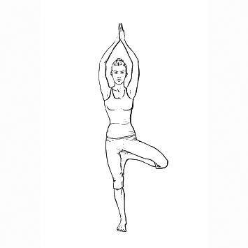 Yoga Übung: Baum - Yoga Übungen fürs Büro