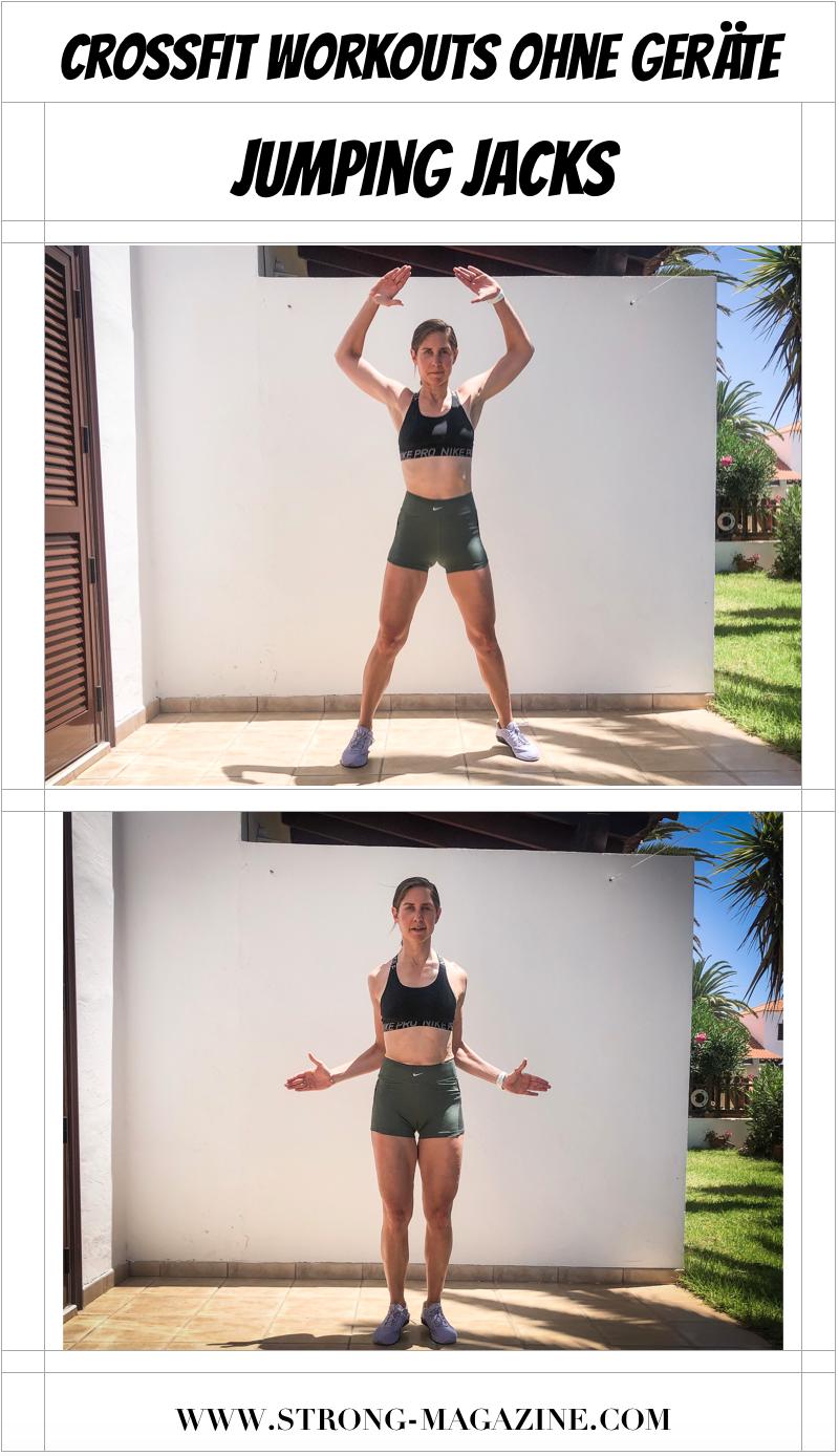 CrossFit Cardio Übung für die Fettverbrennung: Hampelmann / Jumping Jacks