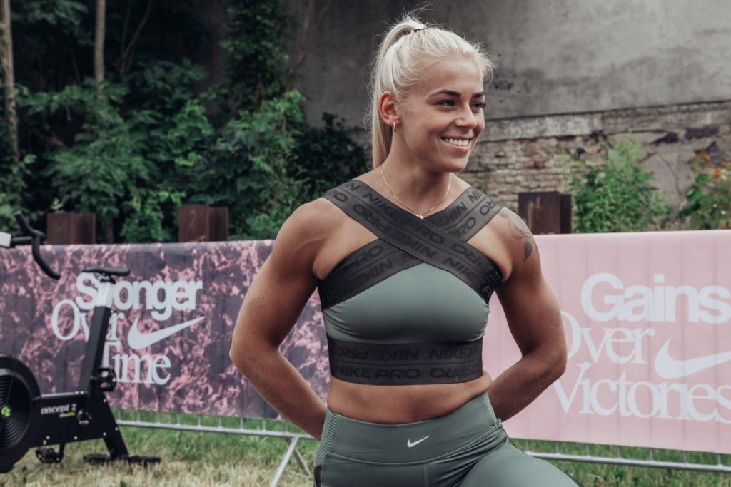 Nike CrossFit Athlete Solveig Sigurdardottir auf dem Berlin Throwdown 2019
