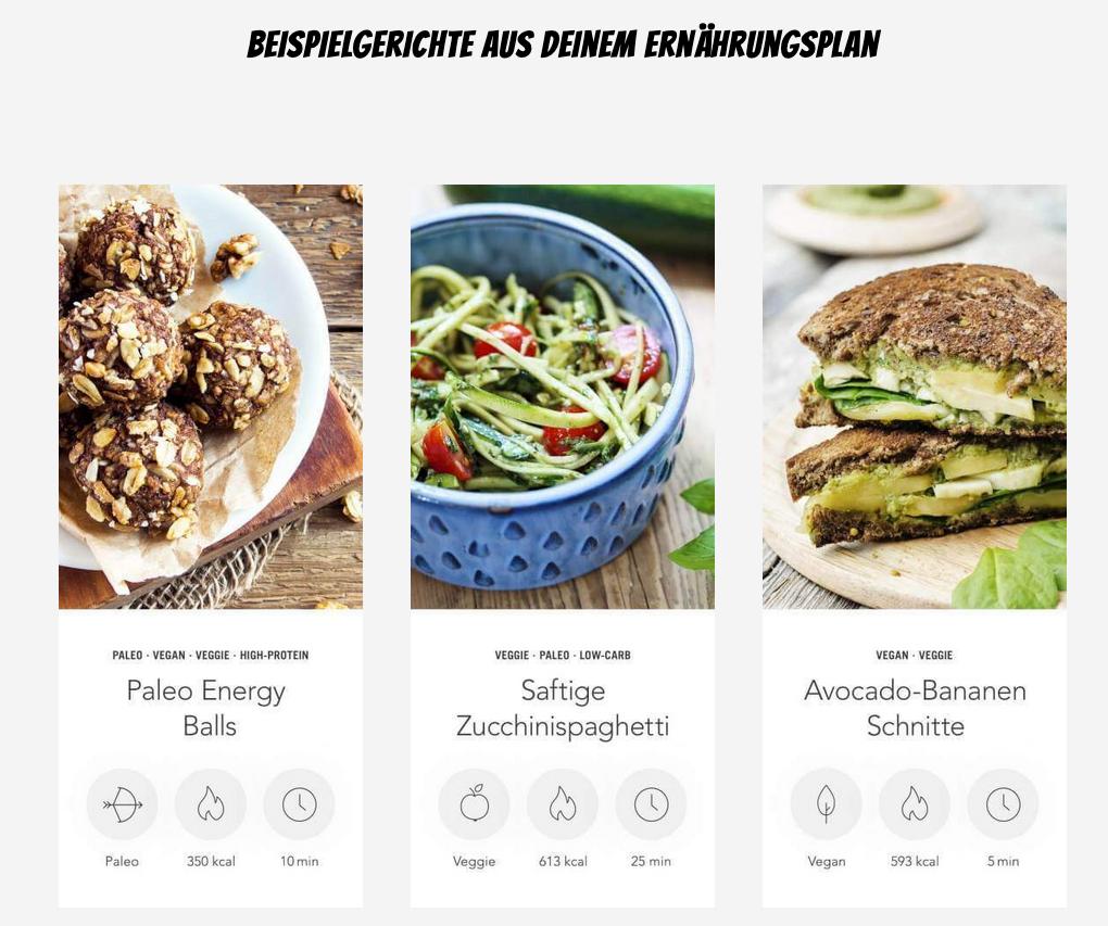 STRONG Ernährungsplan Rezepte