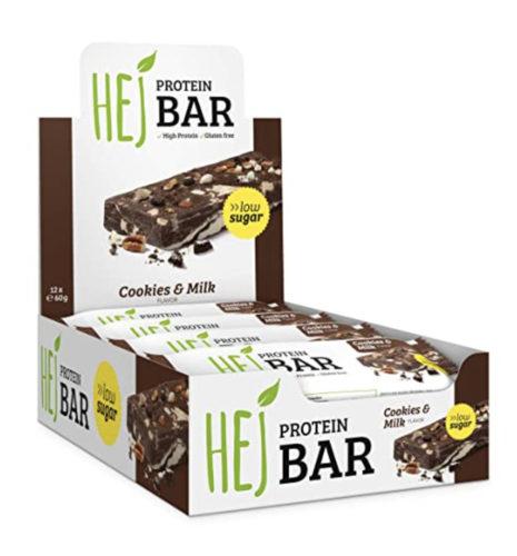 Ketogene Süßigkeiten bei DM oder Budnikovski: Proteinriegel von HEJ Bars Cookies & Milk