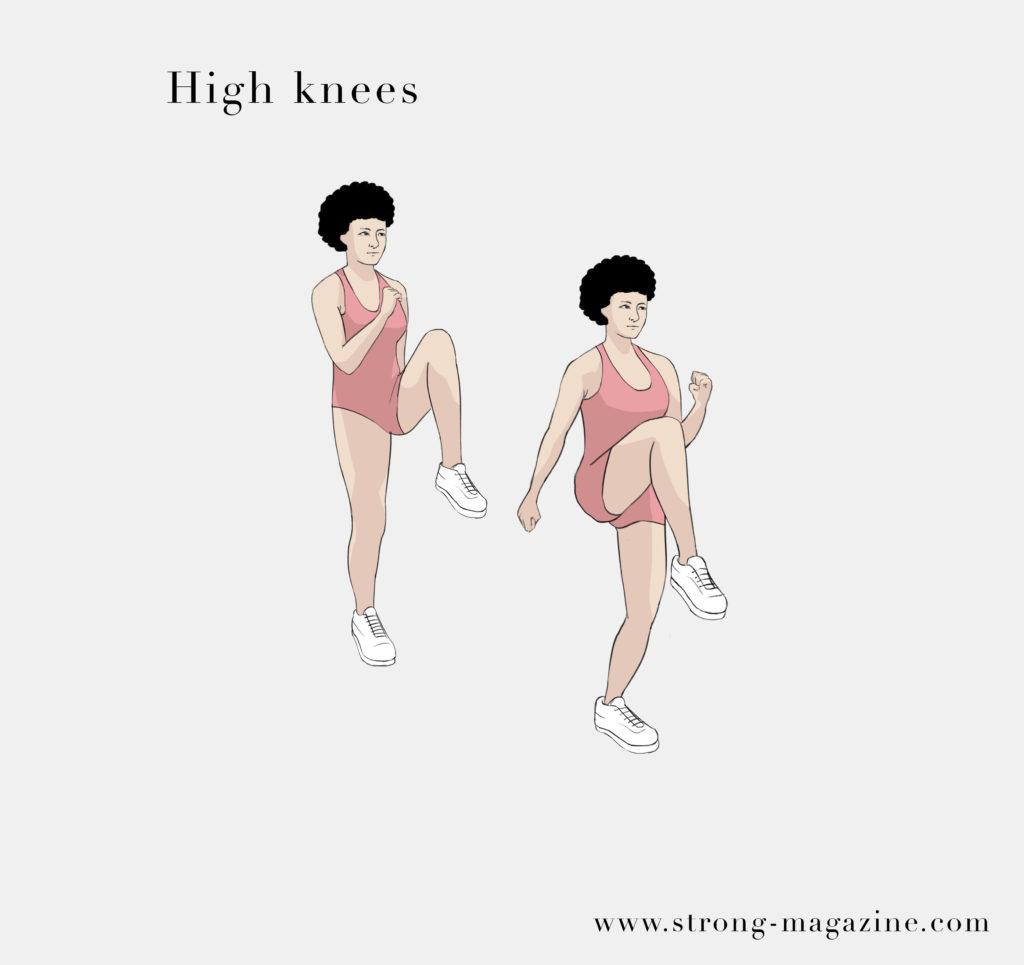 Die besten Fitnessübungen für zuhause zum Abnehmen - High Knees