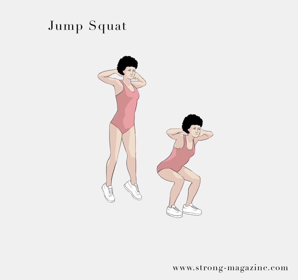 Die besten Fitnessübungen für zuhause zum Abnehmen - Jump Squat